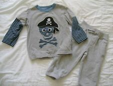 BOYS Gymboree Pirate Adventure Skull Crossbones PIRATE Shirt Pants SET Sz 2 2T