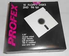 "PROFEX 5 1/4"" HIGH DENSITY Floppy Disks 1.2 MB PACK OF 10 DISKETTES new oldstock"