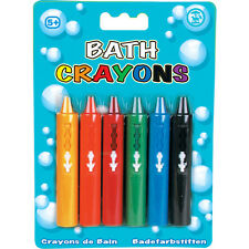6 x BABY BATH TILE WRITING WASHABLE CRAYONS NON TOXIC EDUCATIONAL FUN TOY