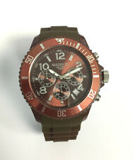 Madison New York U4362-19 CHRONO Chocolate Damen Herren Uhr Silikon Kinderuhr