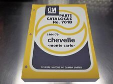 64 - 1970 CHEVELLE - MONTE CARLO MASTER PARTS CATALOG July 70 print