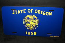 OREGON STATE FLAG METAL LICENSE PLATE TAG FOR CARS
