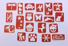 Glitter Tattoo Stencils - 80 piece Girls Stencil Pack - Maybel's Glitter Tattoo