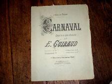 carnaval extrait de la suite d'orchestre pour piano à 4 mains 1872 E. Guiraud