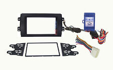 Radio Replacement Dash Mount Kit 2-DIN w/Harness & Steering Controls for Suzuki