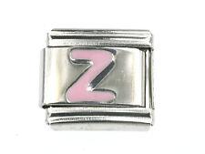 """Buchstabe """"Z"""" Modul Italian Charms in Rosa passend für Nomination NEU"""