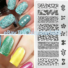 Flower Butterfly Stencils Nail Art Stamp Stamping Image Template Plate Mold J06