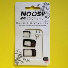 BLACK 4in1 Pack NANO/MICRO/STANDARD SIM Card Adapter iPHONE 5S 5 4S 4 3GS 3G 2G