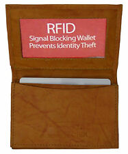 Tan RFID Security Leather Expandable Credit Card ID Business Holder Wallet++