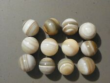 Agate Marble Banded Bullseye Bulls Eye Natural Gemstone 28 to 31 MM. Diameter