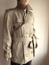 BURBERRYS MENS XXL 46-48 VINTAGE DOUBLE BREASTED CHECK LINED TRENCH COAT JACKET
