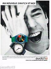PUBLICITE ADVERTISING 105  1986   la nouvelle montre SWATCH
