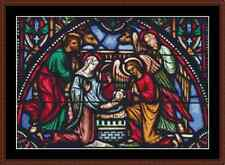Stained Glass Nativity Cross Stitch Kit
