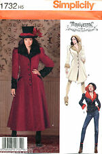SIMPLICITY SEWING PATTERN 1732 SZ 14-22 VICTORIAN STEAMPUNK COAT JACKET COSTUME