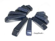 DISCO BLUE SANDSTONE GEMSTONE BLUE LOOSE BEADS GRADUATED SET 11 BEADS