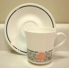 Corning/Corelle - SILK AND ROSES - 8 oz. Cup and Saucer