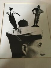 1970s/80s Black and White Photo Image,Dancers Standing on a Sailors Hat