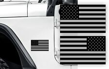 Black Ops AMERICAN FLAG Fender Stickers Jeep Wrangler | USA Hood Decals JK TJ XJ