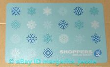 "SHOPPERS DRUG MART HOLIDAY 2016 GIFT CARD ""SNOWFLAKES"" NO VALUE NEW COLLECTIBLE"