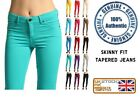 Ladies Womens SKinny Fit Coloured Jeggings Stretchy Jeans Trousers Leggings 8-26
