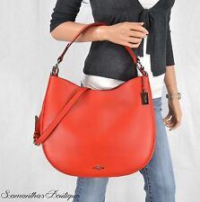 NWT COACH CARMINE RED LEATHER HOBO SATCHEL SHOULDER BAG MESSENGER HANDBAG PURSE