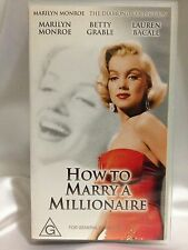 HOW TO MARRY A MILLIONAIRE ~ MARILYN MONROE ~ RARE AS NEW VHS VIDEO