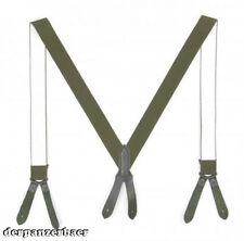 Wehrmacht Elite  Luftwaffe BW Hosenträger  Y Form Lederlaschen gebr.