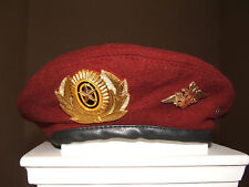 RUSSIAN INTERNAL AFFAIRS TROOP SPETSNAZ UNIFORM MAROON BERET BADGE INSIGNIA 60CM