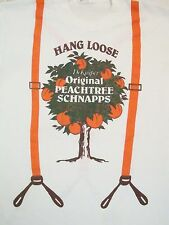 Vintage Hang Loose Peachtree Schnapps Suspenders Liquor Beer Thin T Shirt S