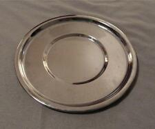 """VINTAGE KROMEX ROUND SERVING/APPETIZER  TRAY  12 3/4"""" SILVER TONED NO HANDLES*"""