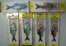 6 packs brand new pre rigged Storm live kickin shad soft plastic fishng lures 3""