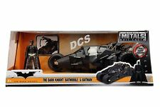 JADA 2008 THE DARK KNIGHT BATMOBILE W/ DIECAST BATMAN FIGURE 1/24 CAR 98261
