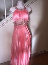 New Satin Ball Gown Prom Dress Wedding Formal Pleated Dress W/ Jewels Juniors 5