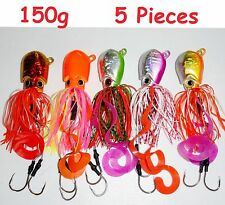 5 pcs Thunder Jigs Each 5.25oz /150g Octopus Saltwater Fishing Lures- 5 Colors