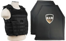 Level IIIA 3A | Body Armor Inserts | Bullet Proof Vest | Expert Vest -BLACK M-XL