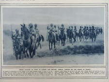 1914 BENGAL LANCERS INDIAN CAVALRY IN FRANCE; KRUPP RAILWAY MOUNTED GUN WWI WW1