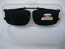 Sonnenbrillen Clip Brillenaufsatz Brillenträger Aufsatz Sonnenbrille grau Etui
