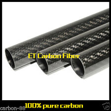 Roll Wrapped Carbon Fiber Tube OD 21mm* ID 19mm*1000mm 3k Rod with High Quality