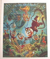 Beautiful 1990s Carl Barks/Uncle Scrooge Print-Making of a Fish Story (C1337)