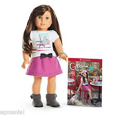 "American Girl GRACE THOMAS 18"" Doll OF THE YEAR 2015 WITH BOOK & BRACELET NEW!"