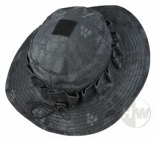 AIRSOFT FISHING KRYPTEK BLACK TYPHON STYLE BOONIE HAT DELUXE SMALL 56-58cm CHILD