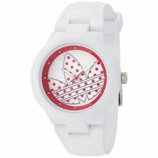 NEW ADIDAS WOMEN'S ABERDEEN WHITE SILICONE QUARTZ WATCH