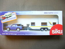Siku Car And Caravan Set SUV Raft Camper 1/55