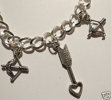 SAGGITARIUS ARROW HOROSCOPE SILVER TONE HANDMADE  BRACELET 18-21 CM LENGTHS