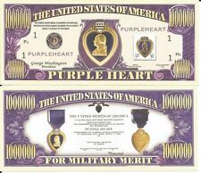 USA BILLETE 1 MILLON DOLLARS CORAZON PURPURA