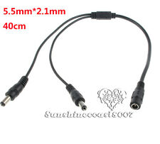 1 Female to 2 male 5.1mmX2.1mm CCTV DC Power Supply Splitter Cable For LED Strip