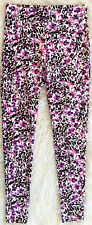 H&M WOMENS LEOPARD PINK FLORAL MIX STRETCH LEGGINGS NWOT! S
