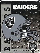 Oakland Raiders NFL Helmet 60x80 Fleece Throw Blanket