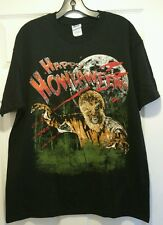 New Happy Howlaween Wolf Man Adult Large T-shirt Horror Movie