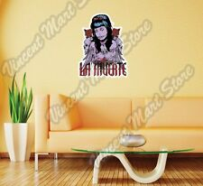 "La Muerte Death Girl Skull Gift Idea Wall Sticker Room Interior Decor 18""X25"""